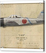 Saburo Sakai A6m Zero - Map Background Acrylic Print by Craig Tinder