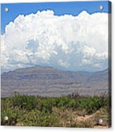 Sacramento Mountains Storm Clouds Acrylic Print