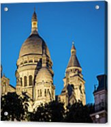Sacre Coeur - Night View Acrylic Print