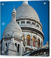 Sacre-coeur And Moon Acrylic Print