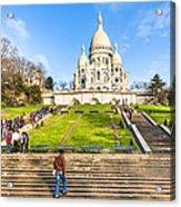 Sacre Coeur - Basilica Overlooking Paris Acrylic Print