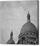 Sacred Heart Basilica Of Montmartre  Acrylic Print