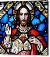 Sacred Heart Of Jesus In Stained Glass Acrylic Print