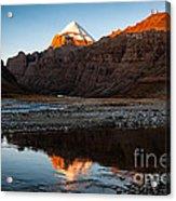 Sacred Mountain In Tibet - Mount Kailash Acrylic Print