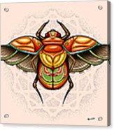 Sacred Scarab Acrylic Print by Matt Truiano