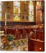 Sacred Space - Our Lady Of Mt. Carmel Church Acrylic Print