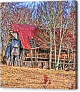 Sad Barn -  Featured In 'old Buildings And Ruins' Acrylic Print