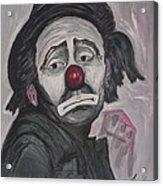 Sad Clown Acrylic Print
