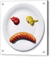 Sad Food Face Acrylic Print