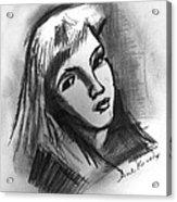 Sad Girl  Acrylic Print