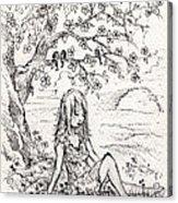 Sad Little Girl Acrylic Print