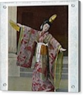 Sada Yacco  Japanese Actress Who Toured Acrylic Print