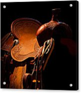 Saddle In The Shop Acrylic Print