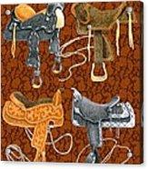 Saddle Leather Acrylic Print
