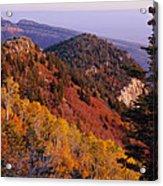 Saddle Mountain Autumn-sq Acrylic Print