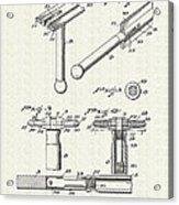 Safety Razor Patent 1937 Acrylic Print