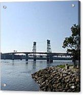 Sagadahoc Bridge Bath Maine Acrylic Print