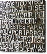 Sagrada Familia Gaudi 6 Barcelona Spain Acrylic Print