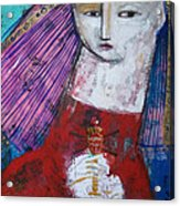 Sagrado Corazon Acrylic Print by Thelma Lugo