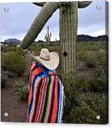 Saguaro Cactus The Visitor 1 Acrylic Print