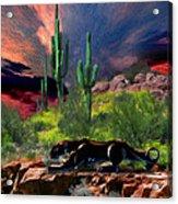 Saguaro Jaguaro Acrylic Print