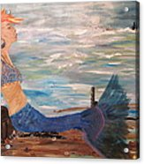 Sahbreena Punk Mermaid Acrylic Print