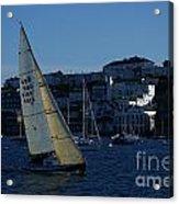 Sail Boat Racing Penryn River Five Spring 2010 Acrylic Print