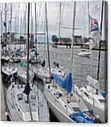 Sail Boats Docked For The Night Acrylic Print