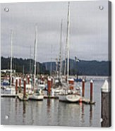 Sail Boats Waiting For Their Captains Acrylic Print
