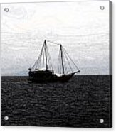 Sail In Black Sea- Viator's Agonism Acrylic Print