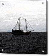Sail In Black Sea- Viator's Agonism Acrylic Print