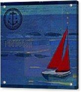 Sail Sail Sail Away - J173131140v02 Acrylic Print by Variance Collections
