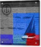 Sail Sail Sail Away - J179176137-01 Acrylic Print by Variance Collections