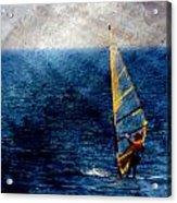 Sailboarding W Metal Acrylic Print