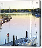 Sailboat At Sunrise Acrylic Print