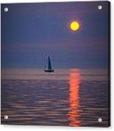 Sailboat At Sunrise Acrylic Print