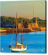 Da147 Sailboat By Daniel Adams Acrylic Print
