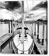 Sailboat Docked Acrylic Print by John Rizzuto