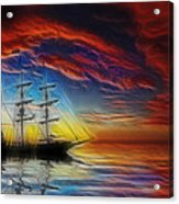 Sailboat Fractal Acrylic Print by Shane Bechler