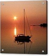 Sailboat In Sunset Acrylic Print