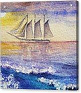 Sailboat In The Ocean Acrylic Print