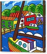 Sailboat In The Window Acrylic Print