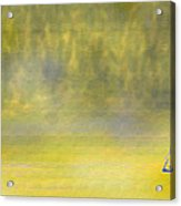 Sailboat On A Yellow Sea Acrylic Print