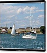 Sailboat On Lake Ontario Near Old Fort Niagara 2 Acrylic Print
