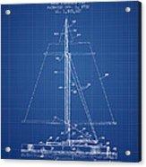 Sailboat Patent From 1932 - Blueprint Acrylic Print