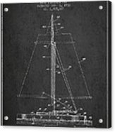 Sailboat Patent From 1932 - Dark Acrylic Print