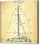 Sailboat Patent From 1932 - Vintage Acrylic Print