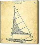 Sailboat Patent From 1962 - Vintage Acrylic Print