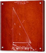 Sailboat Patent From 1991- Red Acrylic Print