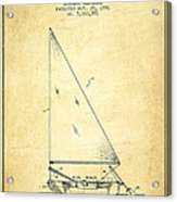 Sailboat Patent From 1991- Vintage Acrylic Print
